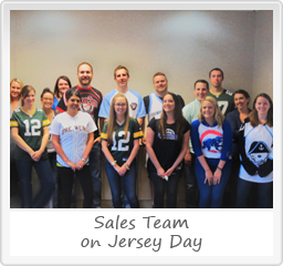 Sales Team on Jersey Day